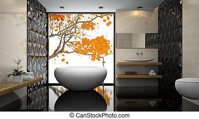 badezimmer modern schwarz boden badezimmerboden stock illustration suchen sie clipart. Black Bedroom Furniture Sets. Home Design Ideas