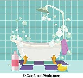 Inneneinrichtung badezimmer karikatur badezimmer for Badezimmer inneneinrichtung