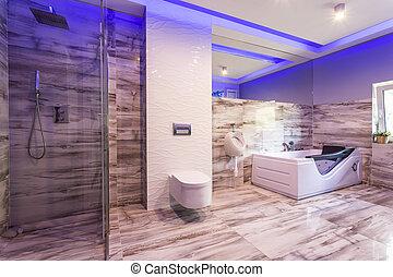 Dusche grauer marmor wand haus modern grau dusche - Fliesenmuster dusche ...
