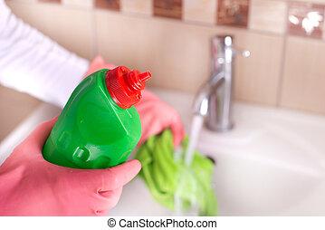 Badezimmer Putzen badezimmer begriff putzen badezimmer begriff haus stockfoto