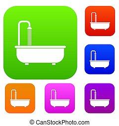 Badezimmer, Satz, Farbe, Sammlung