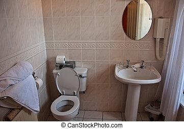 badezimmer, toilette, modern, licht, inneneinrichtung
