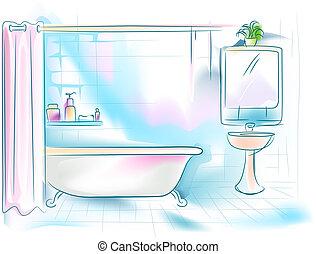 Exceptionnel Badezimmer Zeichnungenvon Lovesiyu4/518 Badezimmer