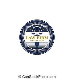 badge., ロゴ, illustrations., 型, 会社, 司法上, ベクトル, 正義, 原則, アイコン, design., スケール, 提唱者, 行為, 法律, ラベル, オフィス, 弁護士, 法的