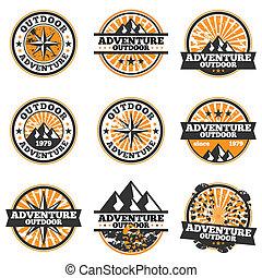 badge, avontuur