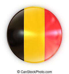 badge - Belgium flag 3d illustration
