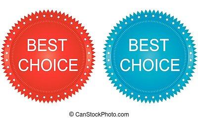 badge., choice., vecteur, mieux, illustration