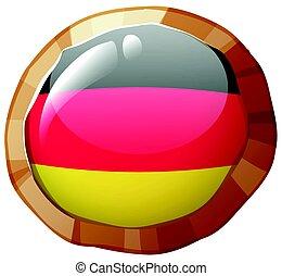 Badge design for Germany flag