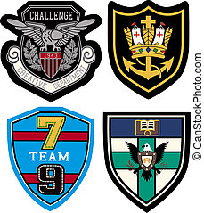badge design set