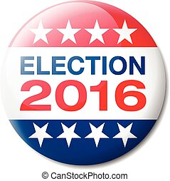 Vector illustration of a badge about the Presidential election of 2016 in the United States of America