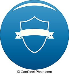 Badge element icon blue vector