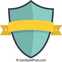 Badge element icon, flat style