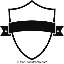 Badge element icon, simple black style