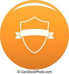 Badge element icon vector orange