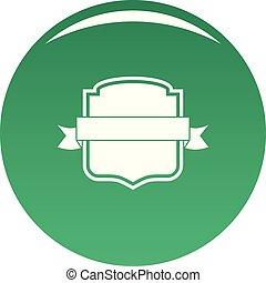 Badge emblem icon vector green
