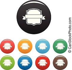 Badge emblem icons set color vector
