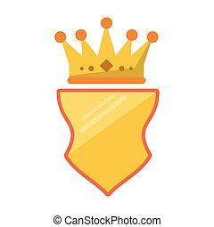 Badge emblem with crown symbol