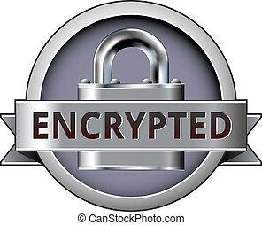badge, encrypted, bevestigen