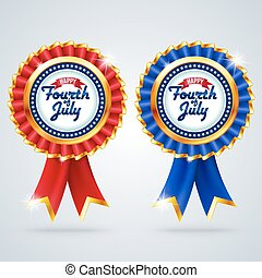 Badge Fourth of july Independence day