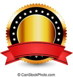 badge, goud