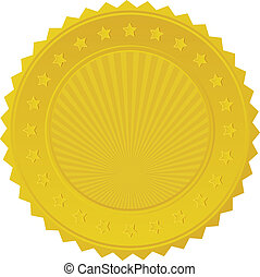 badge, gouden zegel
