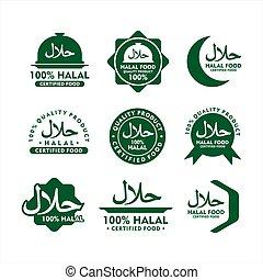Badge Halal food vector design