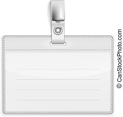 Vector Realistic Card Name or Id Holder isolated on white. EPS10 opacity