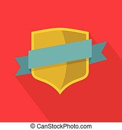 Badge icon, flat style