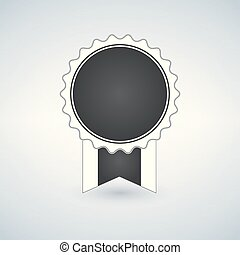 Badge Icon in trendy flat style isolated on light background. Award symbol for your web site design, logo, app, UI.