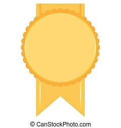 badge in orange tones
