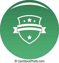 Badge knight icon vector green