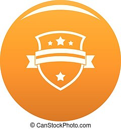 Badge knight icon vector orange
