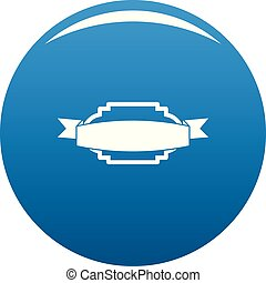 Badge premium quality icon blue vector