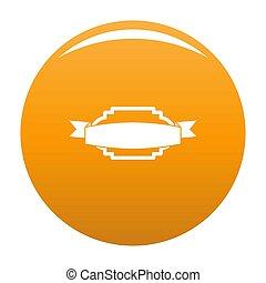 Badge premium quality icon orange