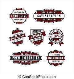Badge Retro Premium Quality Collections