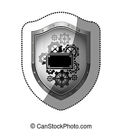 Badge security symbol