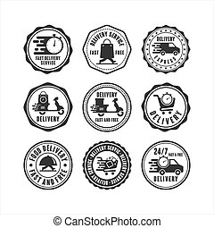 Badge Stamps delivery service collection