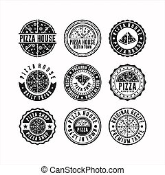 Badge stamps pizza house collection