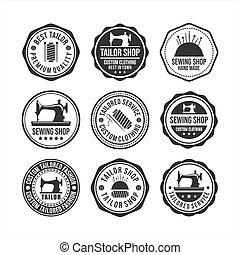 Badge Stamps Tailor Shop Vector Design