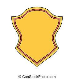 badge, symbool, embleem, spotprent