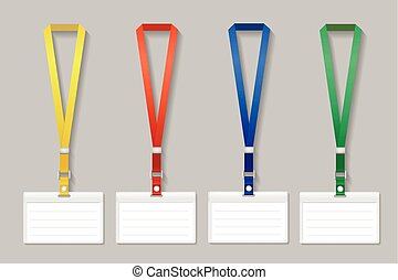 Id Lanyard Card Vip Clipart Vector Search Illustration Drawings - Visitor badge template