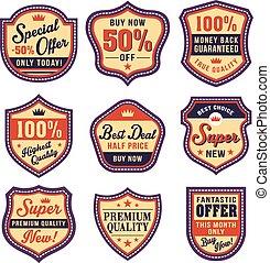 badge vector set