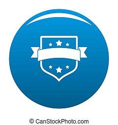 Badge vintage icon blue