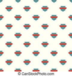 Badge vintage pattern seamless