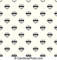 Badge vintage pattern seamless vector
