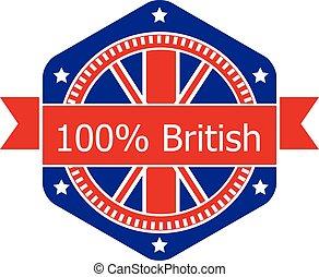 badge., vlag, vector, vasteland, illustration.