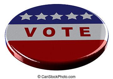 Badge - vote isolated on white background