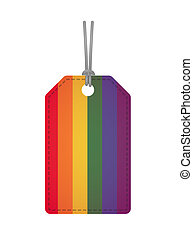 Badge with a gay pride flag