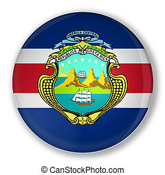 Badge with flag of Costa Rica