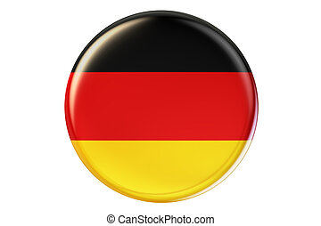 Badge with flag of Germany, 3D rendering